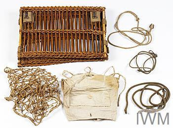 Miscellaneous Equipment, collapsible pigeon basket: British