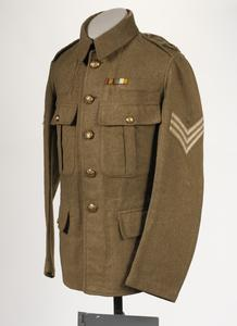 Jacket, Service Dress, 1907 Pattern: Sergeant, Worcestershire Regiment