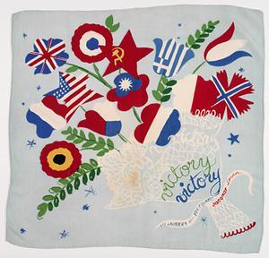 scarf, Jacqmar, 'Les Lauriers De La Victoire'
