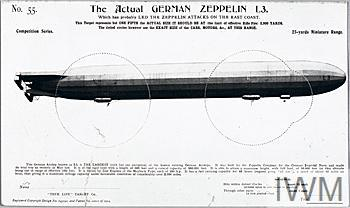 Miniature rifle range target, using the image of Zeppelin L3