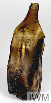 imploded glass bottle from Hiroshima