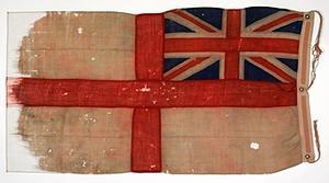 Flag, Ensign, British, White Ensign (HM CMB 88D)