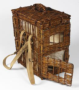 Pigeon basket, double, British