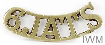 badge, unit, shoulder title, 6th Jat Light Infantry