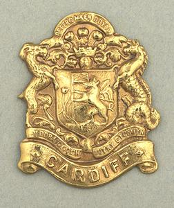 badge, unit, collar badge, British, 16th Battalion, Welch Regiment (City of Cardiff)