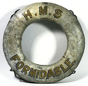 Ship's lifebelt, HMS Formidable