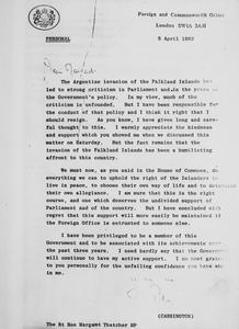 THE FALKLANDS CONFLICT, APRIL - JUNE 1982