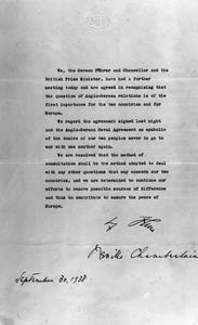 THE MUNICH AGREEMENT, SEPTEMBER 1938
