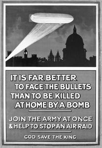 IT IS FAR BETTER TO FACE THE BULLETS THAN TO BE KILLED AT HOME BY A BOMB