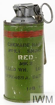 Grenade, hand, smoke, No 83 Red Mk 2 000000