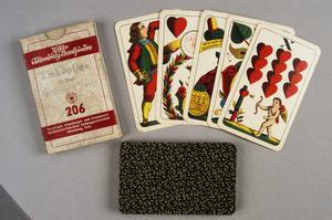 card game, German, 'Einkopfige' (set of 32 playing cards)
