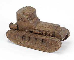 tank, wooden model