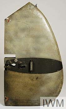 fin fragment from a German Messerschmitt Me 110  aircraft (flown by Major Heinz Wolfgang Schnaufer)
