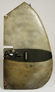 fin fragment from a German Messerschmitt Me 110 aircraft (flown by Major Heinz Wolfgang Schnaufer)