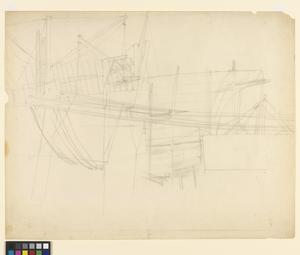 Study for 'Shipbuilding on the Clyde' - The Stern of a Ship