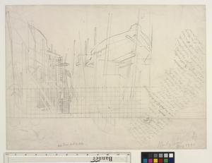 Study for 'Shipbuilding on the Clyde' - Bow End of Ships