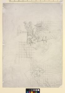 Study for 'Shipbuilding on the Clyde' - Pulling an Angle-iron from a Furnace.  Provisional study for 'Furnaces'