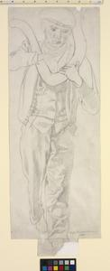 Study for 'Shipbuilding on the Clyde' - Plumber Carrying a Pipe