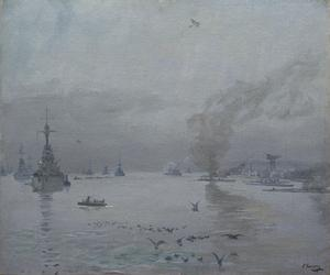 The Fleet: A Misty Day, 1917 : Firth of Forth