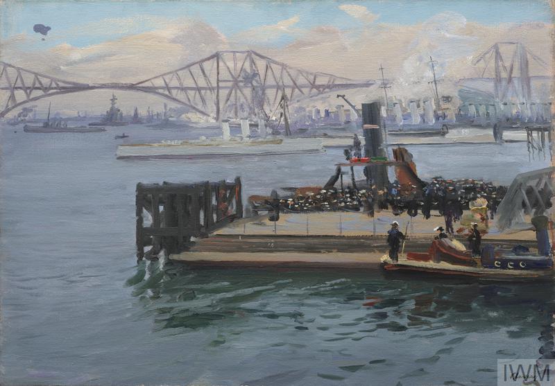 The Forth Bridge, 1917. Bluejackets Landing