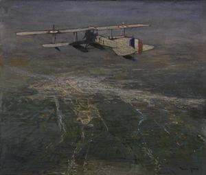 A Seaplane flying over Damascus