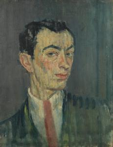 Self-Portrait in a Pink Tie, 1914