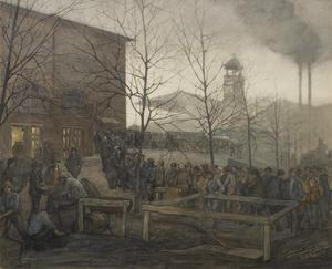 Ruhleben Prison Camp : the queue for bread from Denmark