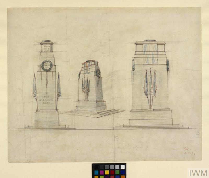 The Cenotaph: Original Design for the Structure in Whitehall