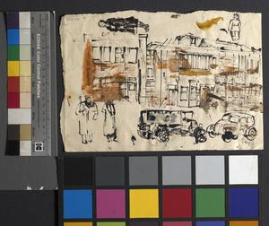 Street Scene: Series of sketches for work in IWM
