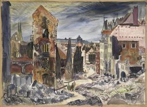 Nuremberg : All that is left of the commercial centre after heavy raids by the RAF