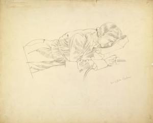 Study for 'Shipbuilding on the Clyde' - Miss Kathleen Chalmers, Welder