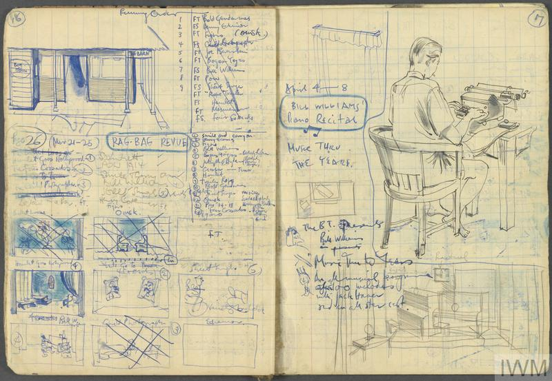 Sketchbook: Theatre Notes and Stage Designs, The Barn Theatre, Spring Season 1944, Sime Road Prison Camp, Singapore