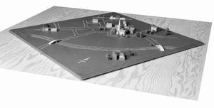 POST WAR PLANNING AND RECONSTRUCTION IN BRITAIN: PORTABLE MODEL FOR PLANNING THE LAYOUT OF A NEW TOWN
