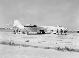 CANBERRA AT MALTA FOR GUIDED MISSILE TRIALS. JUNE 1961, ROYAL NAVAL AIR STATION HAL FAR, MALTA.