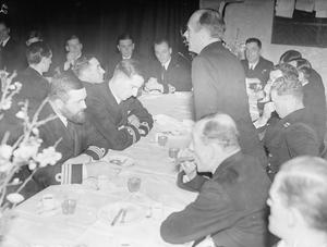 FAREWELL DINNER FOR MALTA SUBMARINE BASE CAPTAIN. 26, 27 AND 28 JANUARY 1943, HMS TALBOT, THE BRITISH SUBMARINE BASE AT MALTA.