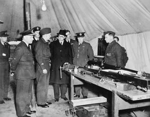 SIR JAMES GRIGG AT TACTICAL AIR FORCE AIRFIELD