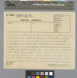 Private Papers of Captain N G Garnons Williams MBE RN