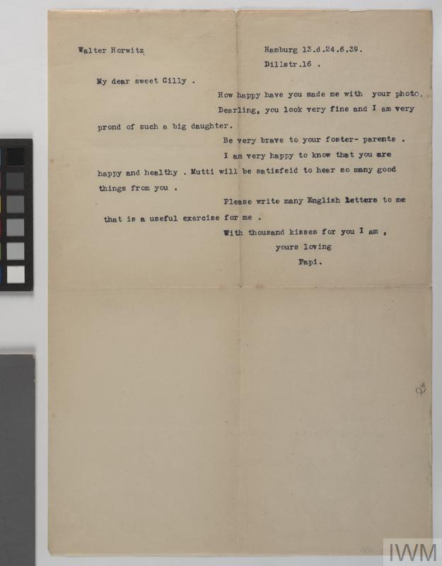 Private Papers of Miss C Horwitz