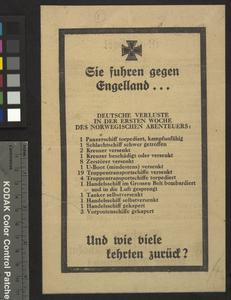 Second World War Propaganda Leaflets