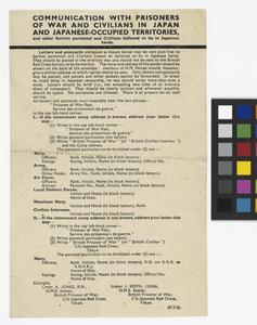 Documents Relating to Prisoners of War in the Far East, 1942 - 1945