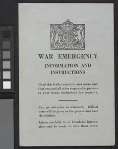 Collection of Civil Defence Documents, Second World War