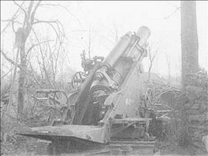 DESTRUCTION OF A GERMAN BLOCKHOUSE BY A 9.2 HOWITZER [Main Title]