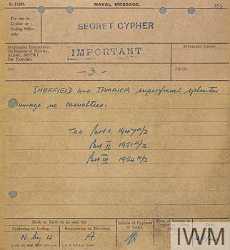 Private Papers of Commander W J Phipps OBE RN