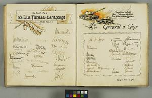 Visitor's Book of the Panzer Training School, Belsen, 1936 - 1945