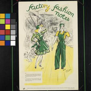 FACTORY FASHION NOTES (recto) NO ROOM FOR HORSE-PLAY HERE (verso)