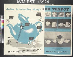 Design in Everyday Things - The Development of the Chair (recto) Design in Everyday Things - The Teapot (verso)