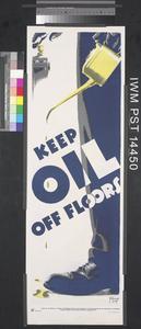Keep Oil off Floors (recto) Beware Sharp Edges! (verso)