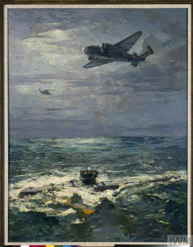 A U-boat Surrenders to a Hudson Aircraft