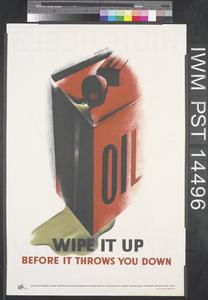 Oil - Wipe it Up (recto) High Heels Mean Accidents! (verso)