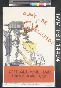 Don't be Scalped! (recto) Prevent Accidents Today (verso)